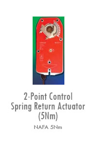2-Point Control Spring Return Actuator (5Nm), Manufacturing, Sunshades, Grilles, Diffusers, Flexible Air Duct, Ceiling Diffusers, Supply Air Grilles, Louvers