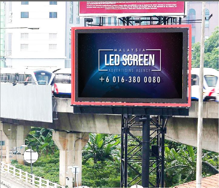 Kuala Lumpur LED Screen Advertising Agency LED Screen at Federal Highway Midvalley Kuala Lumpur Malaysia