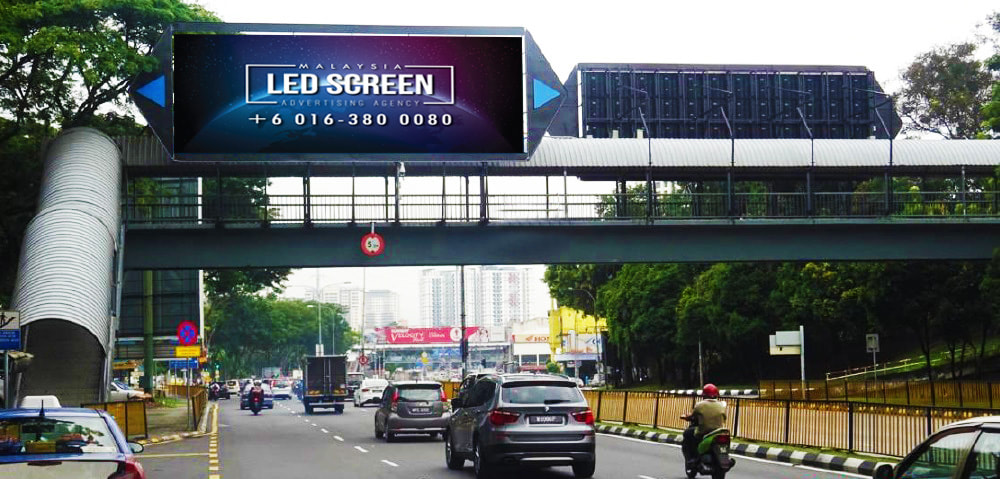 Kuala Lumpur LED Screen Advertising Agency LED Screen at Jalan Cheras near Sunway Velocity Kuala Lumpur Malaysia