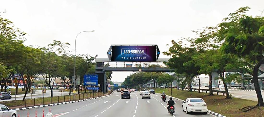 Kuala Lumpur LED Screen Advertising Agency LED Screen at Jalan Cheras near Taman Midah Kuala Lumpur Malaysia