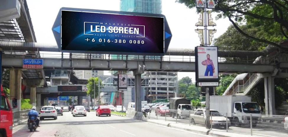 Kuala Lumpur LED Screen Advertising Agency LED Screen at Jalan Maharajalela Kuala Lumpur Malaysia