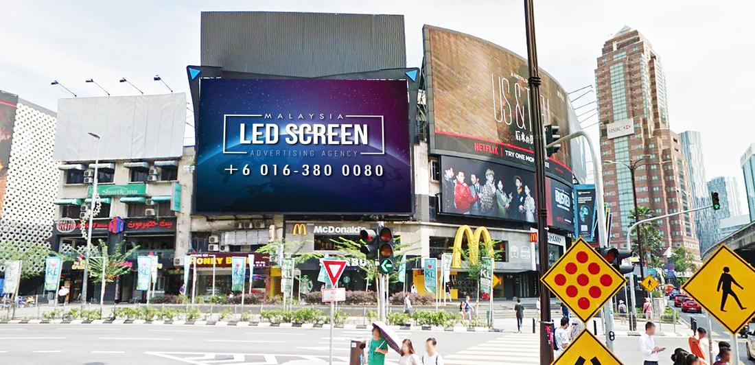 Kuala Lumpur LED Screen Advertising Agency LED Screen at Jalan Sultan Ismail (BB Town Wall) Kuala Lumpur Malaysia