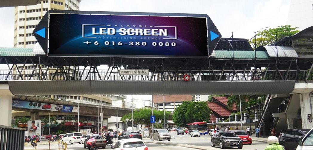 Kuala Lumpur LED Screen Advertising Agency LED Screen at Pudu Sentral, Jalan Pudu Kuala Lumpur Malaysia