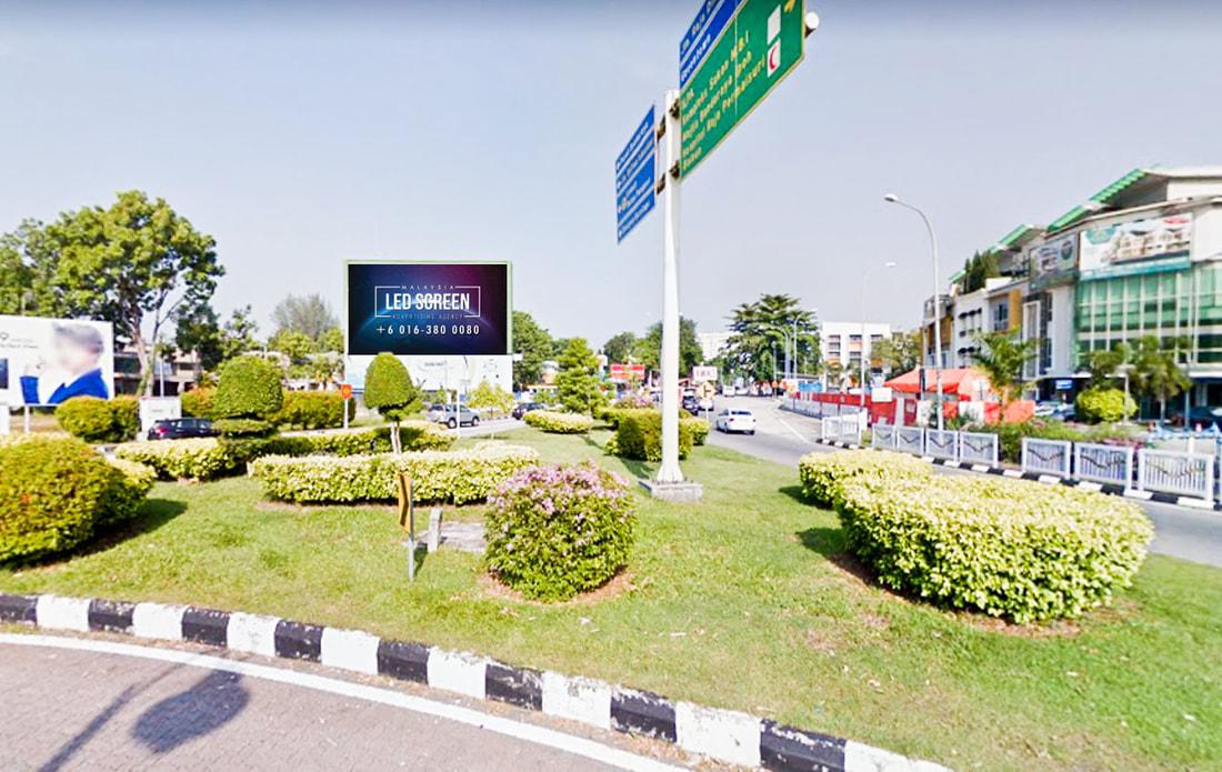 Perak LED Screen Advertising Agency LED Screen at Jalan Sultan Iskandar Bulatan Sultan Yussuf Ipoh Perak Malaysia