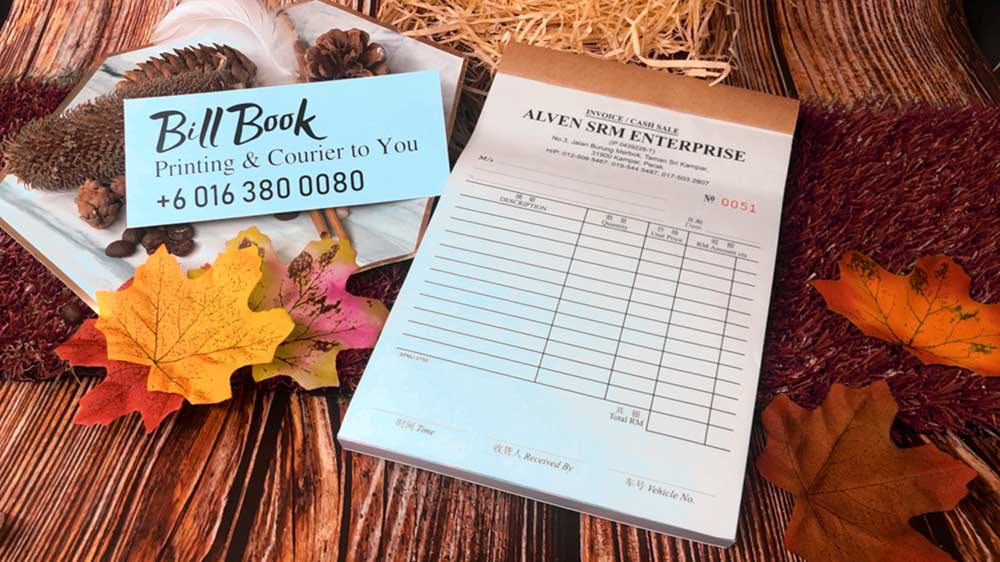 Kuah Bill Book Receipt Book Invoice Book Printing to Kuah