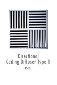 Directional Ceiling Diffuser (Type II), Manufacturing, Sunshades, Grilles, Diffusers, Flexible Air Duct, Ceiling Diffusers, Supply Air Grilles, Louvers, Jet Diffusers
