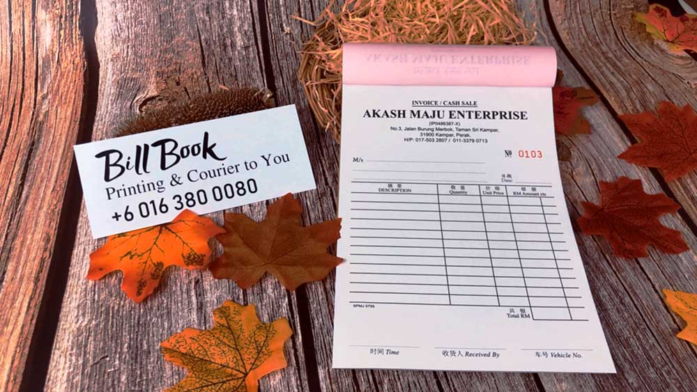 Ketereh Bill Book Receipt Book Invoice Book Printing to Ketereh