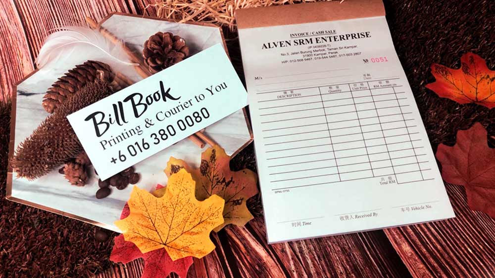 Peringat Bill Book Receipt Book Invoice Book Printing to Peringat