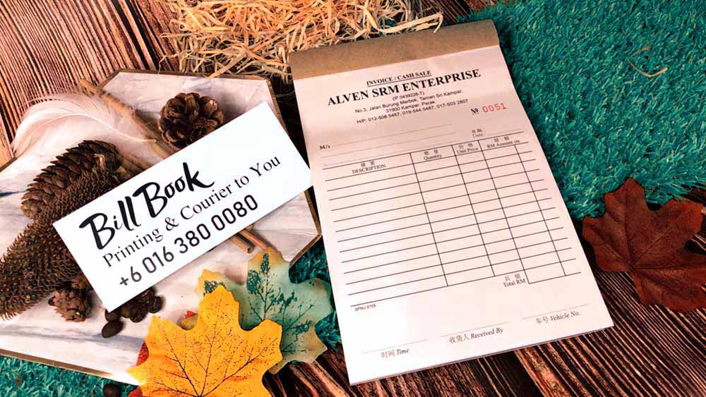 Dungun Print Bill Book Receipt Book Invoice Book Printing to Dungun