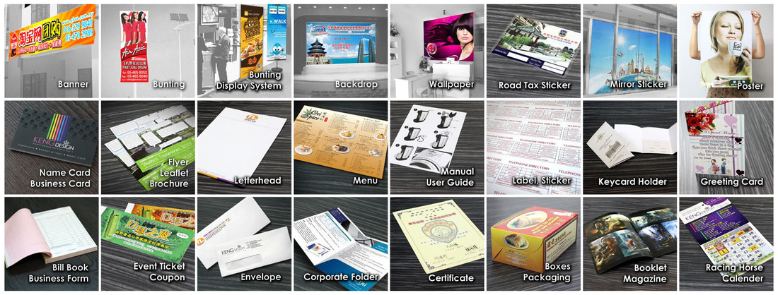Offset Printing, Digital Printing, Printing Shop, Design, Custom Made, Name Card, Business Card, Flyer, Leaflet, Brochure, Leaflet with Fold, Pamphlet, Poster, Event Ticket, Promotion Voucher, Coupon, Bill Book, Business Form, Letter Head, Envelope, Corporate Folder, Booklet, Catalogue, Magazine, Certificate, Label, Sticker, Menu, Greeting Card, Invitation Card, Racing Horse Calender, Record Card, Boxes, Packaging, Plastic Card, PVC Card, Member Card, Key Card Holder,