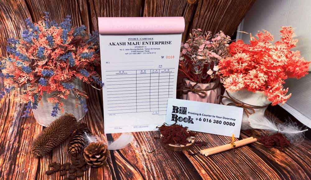 Bangi Print Bill Book Receipt Book Invoice Book Printing to Bangi