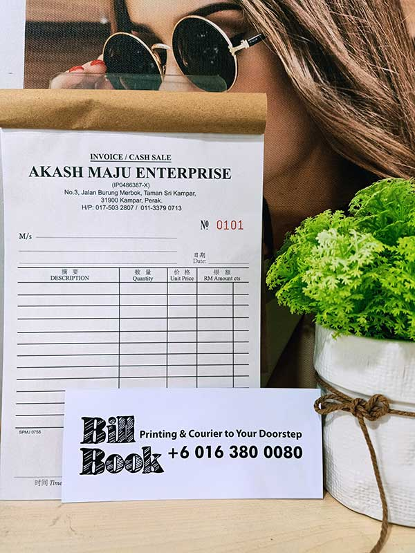 Perai Print Bill Book Receipt Book Invoice Book Printing to Perai