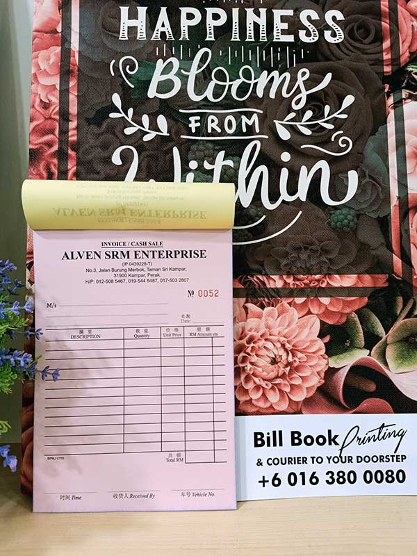 Butterworth Print Bill Book Receipt Book Invoice Book Printing to Butterworth