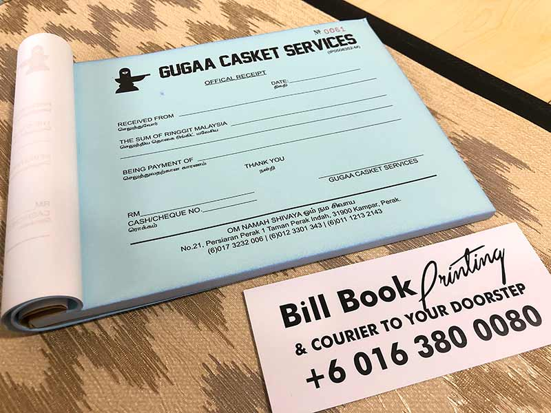 Kampar Print Bill Book Receipt Book Invoice Book Printing to Kampar