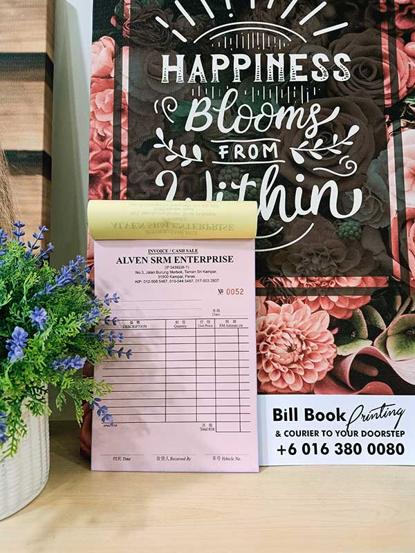 Kinta Print Bill Book Receipt Book Invoice Book Printing to Kinta