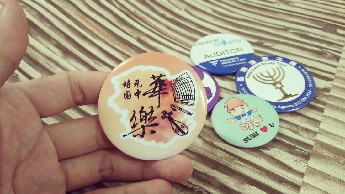 KL Kuala Lumpur Button Badge, Event Button Badge, School Button Badge, Society Button Badge, Printing