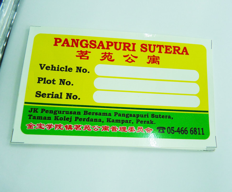 KL Kuala Lumpur Car Sticker, Road Tax Sticker, Vehicle Windscreen Sticker, PVC Car Sticker