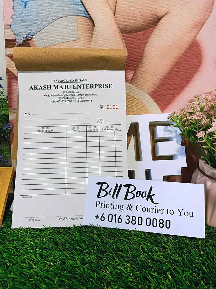 KL Print Bill Book Receipt Book Invoice Book Printing to KL