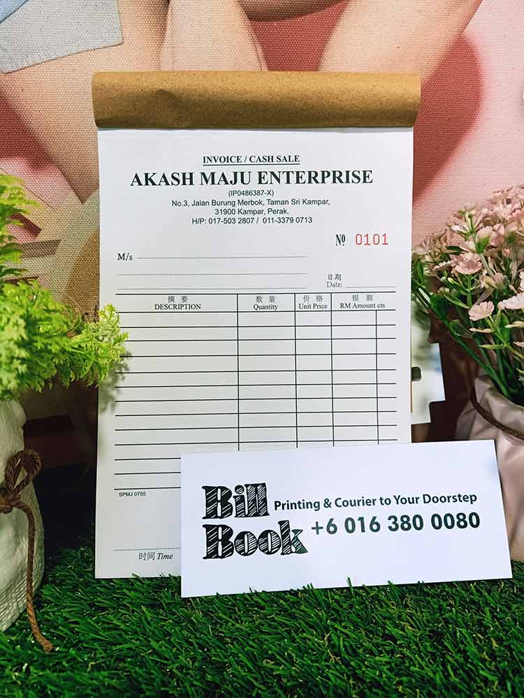 Pantai Remis Print Bill Book Receipt Book Invoice Book Printing to Pantai Remis