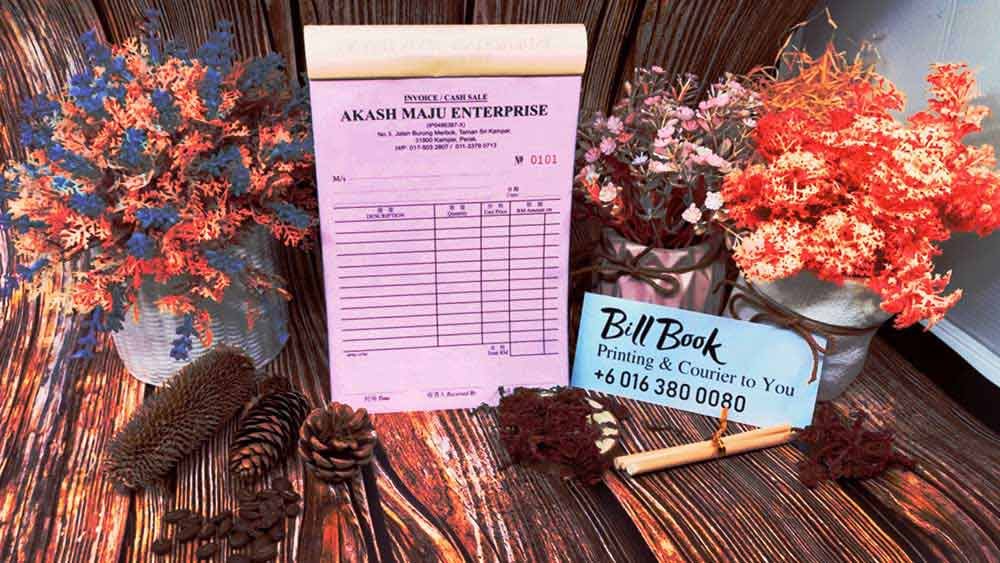 Salak South Print Bill Book Receipt Book Invoice Book Printing to Salak South