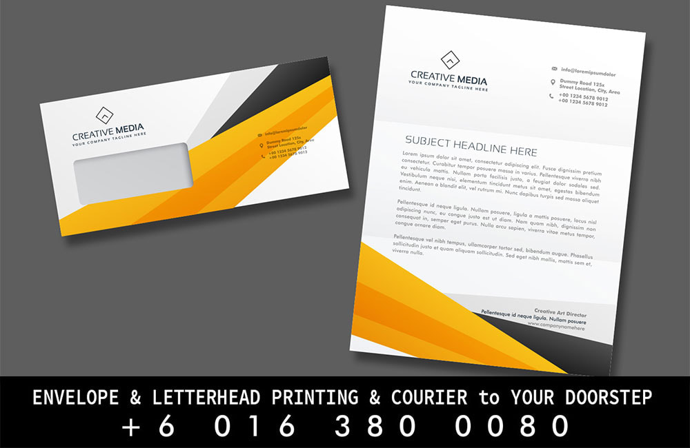 Teriang Print Envelope Letterhead Printing to Teriang